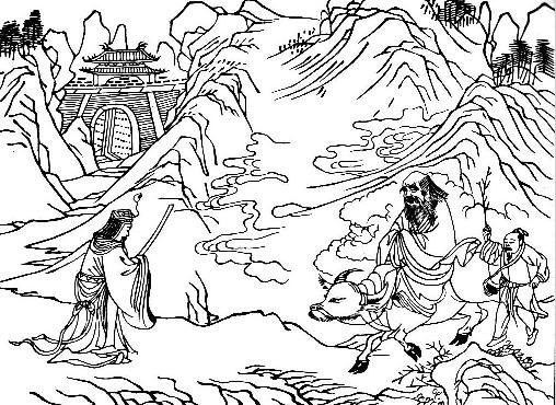 Hàm Cốc Quan: Quan lệnh Doãn Hỉ bái Lão Tử, xin Lão Tử viết quyển Đạo Đức Kinh
